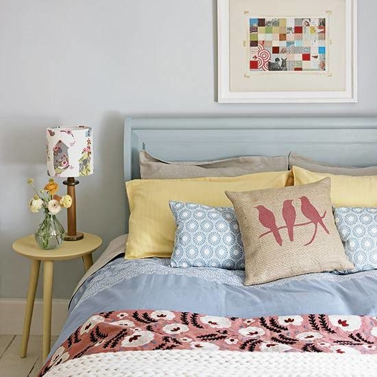 Grey-country-bedroom-with-blue-bed